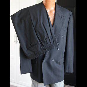 Fioravanti 2 Piece Suit Navy Blue Stripe 42L